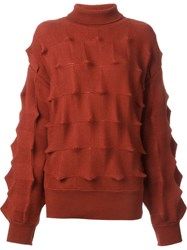 Issey Miyake Vintage Roll Neck Sweater Red