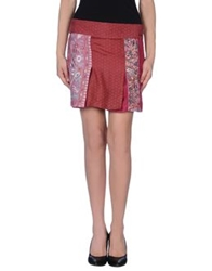 Custo Barcelona Mini Skirts Brick Red