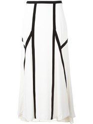 Marni Mid Length Panelled Skirt White