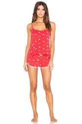 Wildfox Couture Cupid Hearts Pajama Set Red