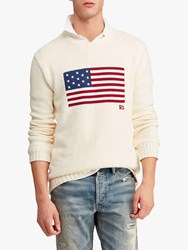 Ralph Lauren Polo Flag Jumper Cream