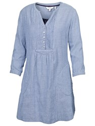 Fat Face Isabel Stripe Tunic Top Indigo