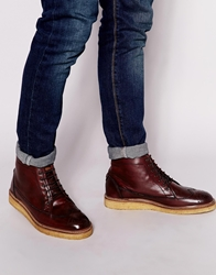 Original Penguin Creasy Brogue Boot Red