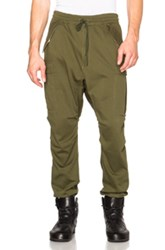 Nlst Compact Knit Cargo Pants In Green