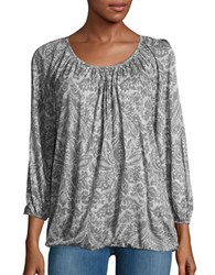 Michael Michael Kors Three Quarter Sleeve Peasant Blouse Ecru