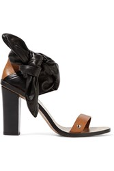 Iro Edrera Two Tone Leather Sandals Black