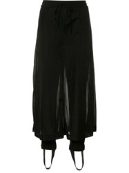 Christian Dada Sheer Cropped Trousers Black