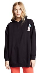 Michaela Buerger Oversized Perfume Bottle Hoodie Black
