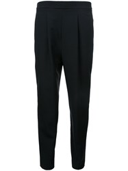 En Route High Waisted Cropped Trousers Black