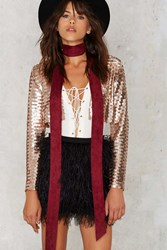 Nasty Gal Such A Rush Sequin Jacket