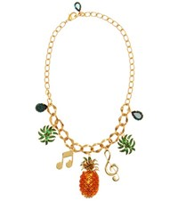 Dolce And Gabbana Crystal Embellished Necklace Multicoloured