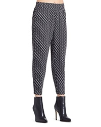 Bcbgeneration Printed Straight Cropped Pants Black Combo