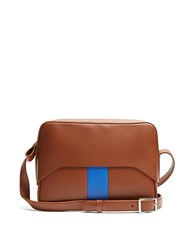 Tibi Garcon Leather Cross Body Bag Tan Multi