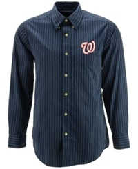 Antigua Men's Long Sleeve Washington Nationals Button Down Shirt