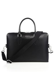 Burberry Grained Leather Briefcase Black