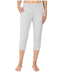 Ugg Hadley Cropped Jogger Pants Seal Heather Women's Casual Pants White