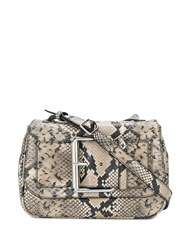 Tommy Hilfiger Snakeskin Effect Crossbody Bag Brown