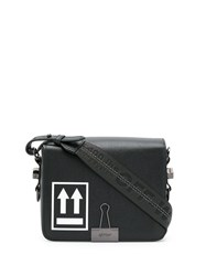 Off White Logo Printed Shoulder Bag Black