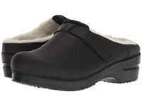 Sanita Whitney Black Clog Shoes