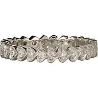 Cathy Waterman Women's Continuous Heart Stackable Band No Color
