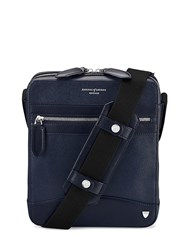 Aspinal Of London Anderson Midi Messenger Blue