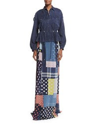 Diane Von Furstenberg Bethune Patched Dots Silk Maxi Skirt Women's Patched Dots Mult