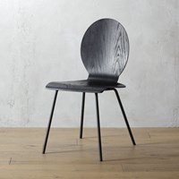 Cb2 Sable Black Chair