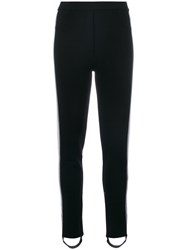 Aviu Side Stripe Stirrup Leggings Women Polyester Viscose 42 Black
