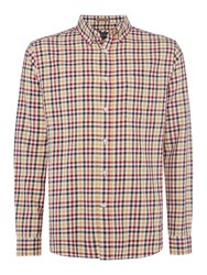 Howick Men's Fallston Gingham Check Long Sleeve Shirt Multi Coloured Multi Coloured