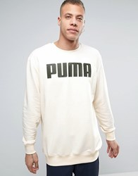 Puma Relaxed Longline Sweat In Cream White