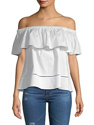 Saks Fifth Avenue Lisha Ruffle Top White