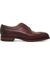 Barker Calvay Grain Leather Derby Shoes Dark Brown