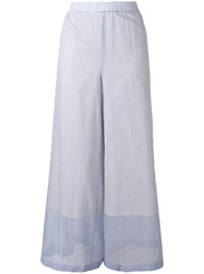 Theory Light Layered Palazzo Pants Women Cotton M Blue