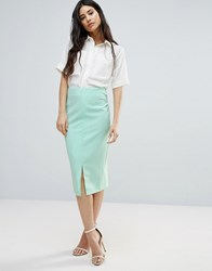 Girls On Film Aqua Pencil Skirt Aqua Blue