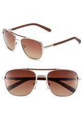 Men's Original Penguin 'The Joey' 56Mm Polarized Sunglasses Matte Gold Gradient Brown