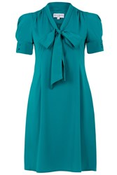 Wolf And Whistle Bow Front Shirt Dress Green
