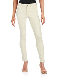 Buffalo David Bitton Skinny Fit Mid Rise Pants Ivory
