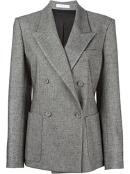 Barbara Casasola Double Breasted Blazer Grey