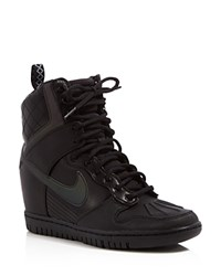 Nike Dunk Sky Hi Lace Up High Top Wedge Sneakers