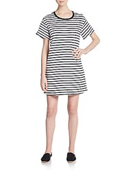 The Fifth Label Striped Tee Dress White Black