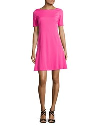 Ellen Tracy Solid Pleated Hem A Line Dress