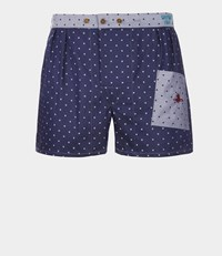 Vivienne Westwood We Boxer Shorts Navy Silver Dots Dots Navy Silver