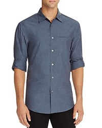 John Varvatos Collection Roll Sleeve Slim Fit Button Down Shirt Aegean Blue