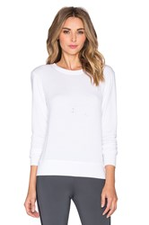 Solow Destroyed Pullover White