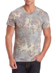 Sol Angeles Camo Floral V Neck Tee