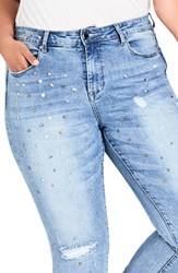 City Chic Plus Size Studded Skinny Jeans Denim