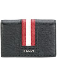 Bally Logo Stripe Wallet Black