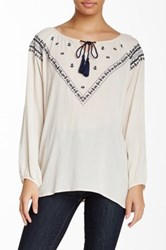 Blvd Embroidered Blouse White
