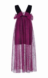Isa Arfen Spray Flock Tulle Risque Dress Pink