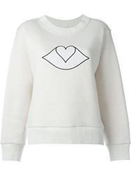 See By Chloa Big Bisou Patch Sweatshirt Nude And Neutrals